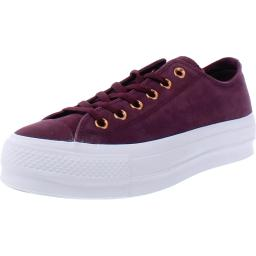 Converse Womens All Star Clean Lift Nubuck Low Top Fashion Sneakers