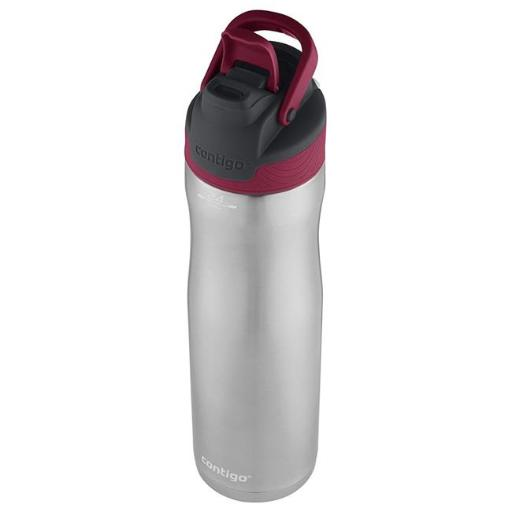 Ignite USA 225644 24oz, Stainless Steel Water Bottle Leak Spill Proof - Very Berry