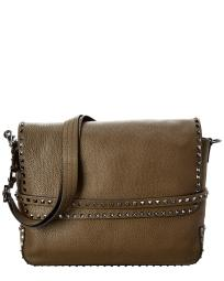 Valentino Rockstud Leather Messenger Bag
