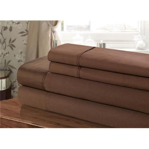 Chic Home CST102-US 100 Percent Cotton Sheet Set, Brown - Twin