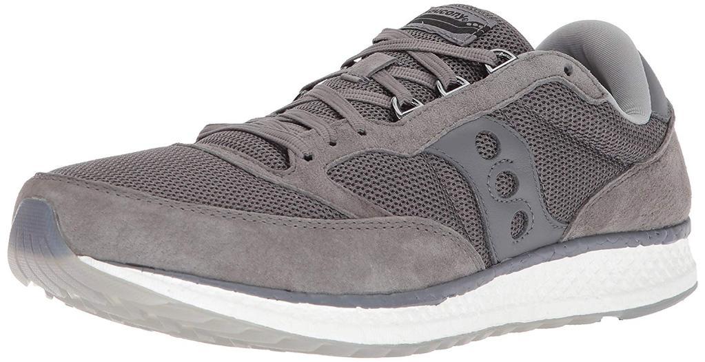 63f80006 Saucony Men's Ride 10 Running Shoe, Grey/Black/Blue