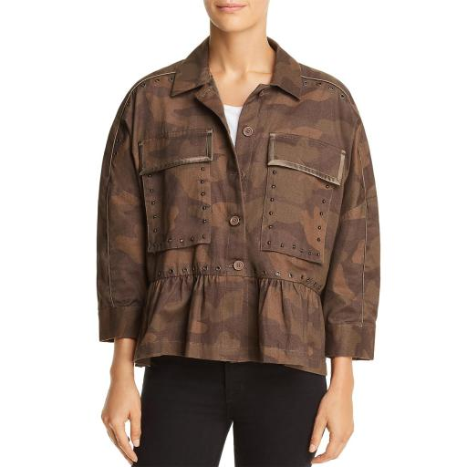 Joie Womens Camouflage Bracelet Sleeves Basic Jacket