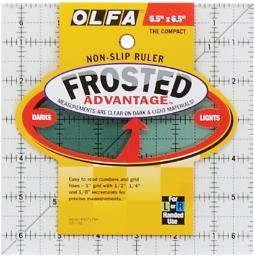 "OLFA Frosted Advantage Non-Slip Ruler ""The Compact"" 6-1/2""X6-1/2"""