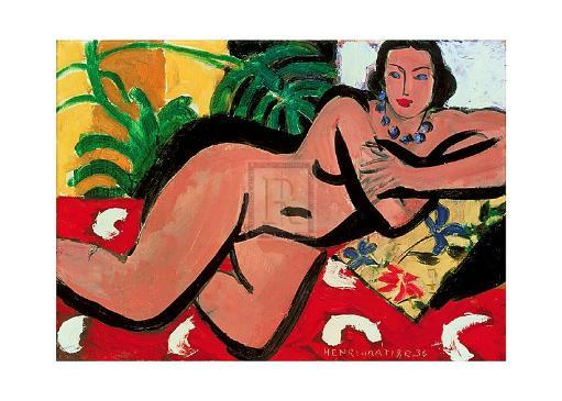 Nude With Palms, 1936 Poster Print by Henri Matisse (28 x 20) 1622847