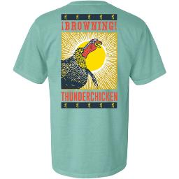 Browning a000358030105 bg men's t-shirt thunder chicken x-large mint<