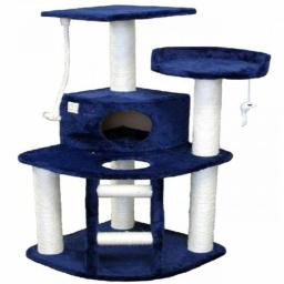 Go Pet CLub F10 48 in. Blue Cat Tree Condo Furniture