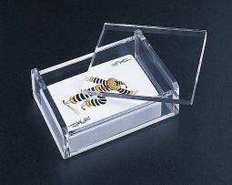 Acrylic Lucite Playing Card/ All Purpose Box with Removable Lid
