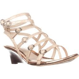 Elie Tahari Gladiator Wedge Sandals, Macrame/Rose Troy