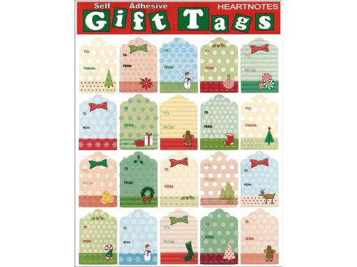 Hrt22498 heartnotes sticker xmas tags vntg string Heartnotes Stickers are great for collecting invitations stationery gift wrapping parties scrapbooking and much more Christmas Tags Vintage String- Multiple gift tag stickers with To and From captions Designs include trees bows presents wreaths