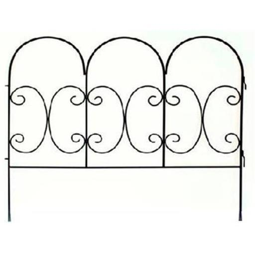 87402 Black Decorative Scroll Fence Panel