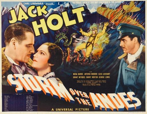 Storm Over The Andes Left And Right: Jack Holt Center: Mona Barrie 1935. Movie Poster Masterprint