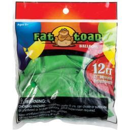 "Fat Toad Balloons Round 12"" 12/pkg-lime Green"
