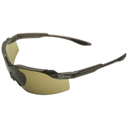 SWX00274 Temple Indoor & Outdoor Anti-Fog Safety Glasses, Brown Spinner