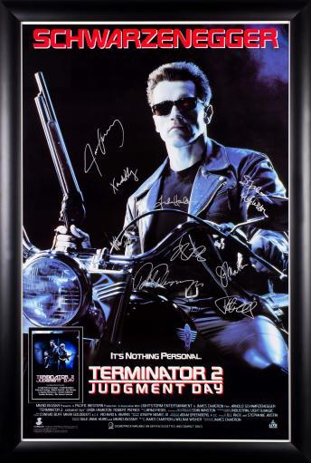 Terminator 2 Judgment Day - Cast Signed Movie Poster IG7TE1AHLYLEFICO