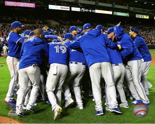 Toronto Blue Jays celebrate the Blue Jays winning the 2015 American League East Division Photo Print