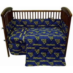 West Virginia Mountaineers Baby Crib Fitted Sheet Pair