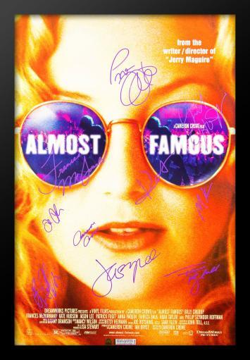 Almost Famous Signed Movie Poster in Wood Frame with COA CI9V3PN5ZAL0XOUB