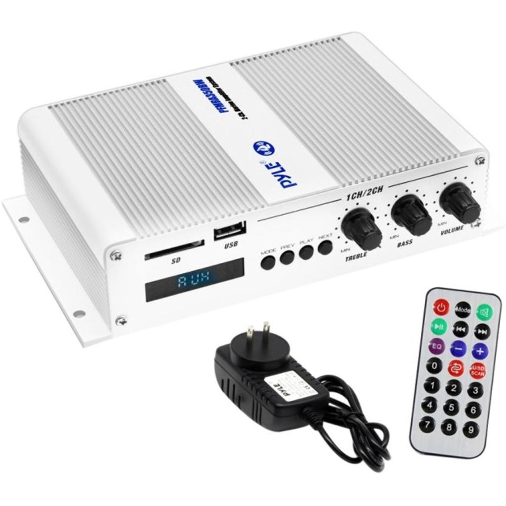 Pyle-car audio/video pfmra350bw 2ch bt marine amplifier