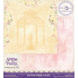 """Blue Fern Spring Parade Double-sided Cardstock 12""""x12""""-remembrance"""