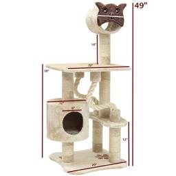 Majestic Pet Products 788995780526 49 in. Casita Cat Tree - Fur