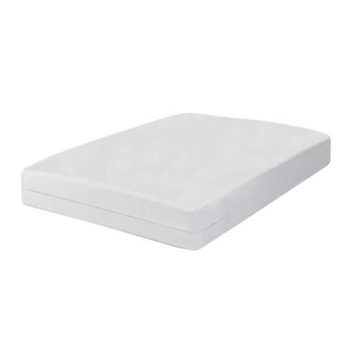 All In One Bed Bug Blocker FRE147XXWHIT01 Luxury Cotton Rich Bed Bug Blocker Zippered Mattress Protector, White - Twin