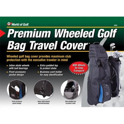 JEF World Of Golf JR628 Deluxe Wheeled Travel Cover