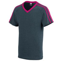 Augusta Sportswear Men'S Get Rowdy Shoulder Stripe Tee Xl Slate Heather/Power... 363.V44.XL