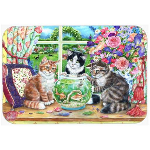 Carolines Treasures CDCO0325CMT Cats Just Looking in the Fish Bowl Kitchen or Bath Mat, 20 x 30