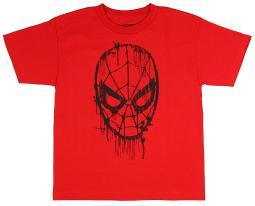 Marvel The Amazing Spider-Man Big Boys Web Head Drips Graphic T Shirt
