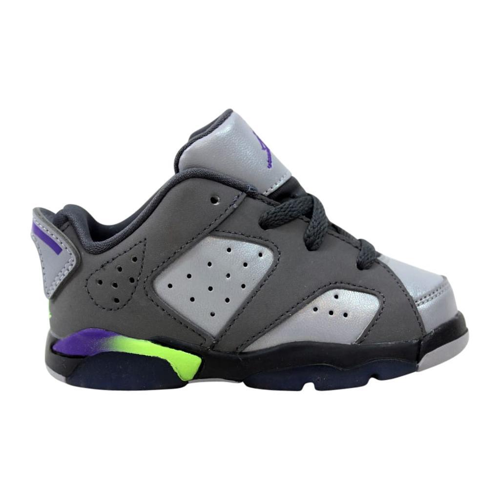 reputable site 992e1 e34fe Nike Air Jordan VI 6 Retro Low GT Dark Grey/Ultraviolet-Wolf Grey-Ghost  Green Dark Grey 768885-008 Toddler