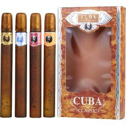 CUBA VARIETY by Cuba 4 PIECE VARIETY WITH CUBA GOLD, BLUE, RED & ORANGE & ALL...