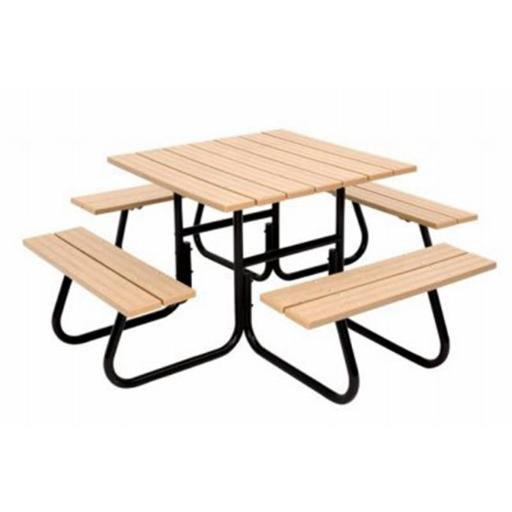 Jack Post 227640 Fiesta Charm 4 Sided Round Tubular Picnic Table Frame