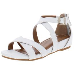 Comfortiva Womens Melody Leather Strappy Wedge Sandals