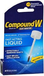 Compound W Wart Remover Fast-acting Liquid - .31 Oz