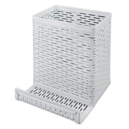 Artistic ART20014WH Urban Collection Punched Metal Pencil Cup & Cell Phone Stand, White