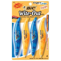 BIC USA 1495150 Wite-Out Exact Liner Correction Tape, Pack of 4