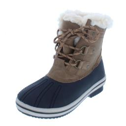 Pawz Womens Gina Faux Leather Cold Weather Winter Boots