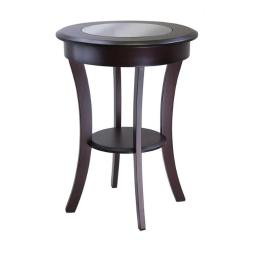 Winsome 40019 Cassie Round Accent Table with Glass