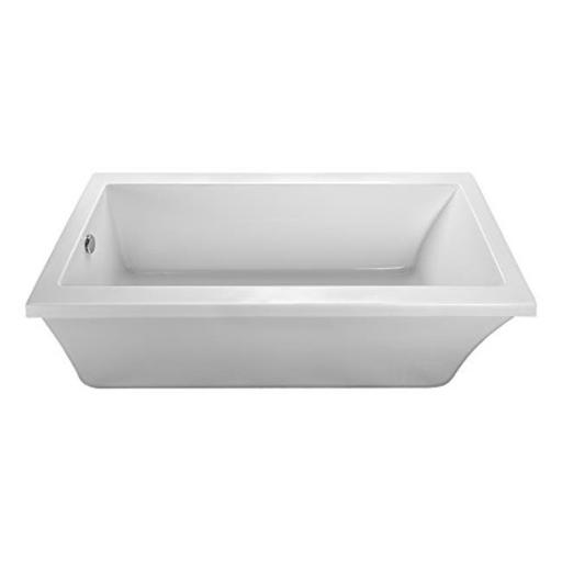 End Drain Freestanding Soaking Tub Virtual Spout, Biscuit