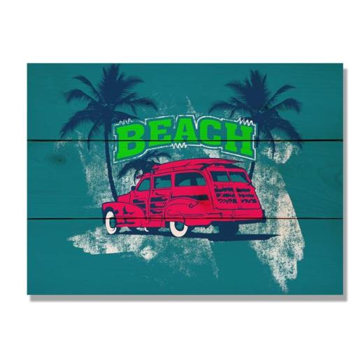 Day Dream HQ WRBW1511 15 x 11 in. Red Beach Woodie Wall Art