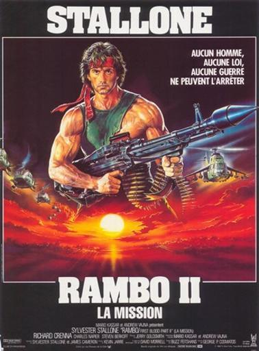 Rambo First Blood Part 2 Movie Poster (11 x 17) PBZDWJNLDH8MWZDE