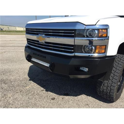 Iron Cross IRO40-525-15 2015 - 2016 Silverado 2500 & 3500 Heavy Duty Low Profile Series Full Width Front HD Bumper, Black