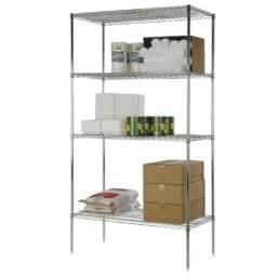 FocusFoodService FF2436C 24 in. W x 36 in. L Wire Shelf - Chrome