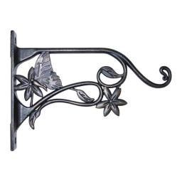 Panacea Products 85640 9 x 6.6 x 1.15 in. Brushed Bronze Plant Bracket Butterfly