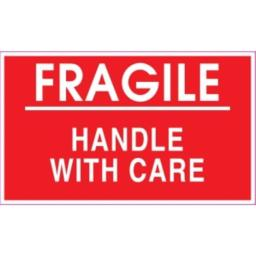 Ace Label 53018F 5 in. x 3 in. Fragile Handle With Care