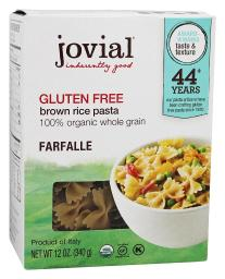 Jovial Foods - Gluten-Free Brown Rice Farfalle Pasta - 12 oz.