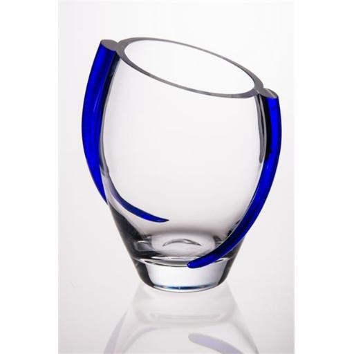 Majestic Gifts T-912 Glass Vase With Cobalt Swirl TYUJH1ULIUTGE0AX