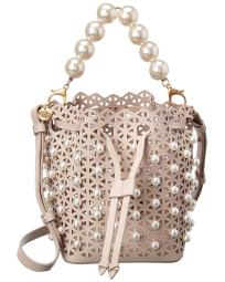 ZAC Zac Posen Lacey Drawstring Leather Crossbody