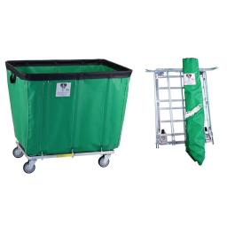 7f989da2598 R B WQ53C0411 Wire Products 408KDC FG 8 Bushel UPS FEDEX ABLE Vinyl Basket  Truck All Swivel Casters forest Green 35 x 23 5 x 30 in 054D9C09FAD Home  Family ...