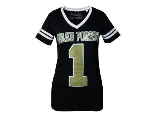 Wake Forest Demon Deacons NCAA Press Box V-Neck Jersey Tee